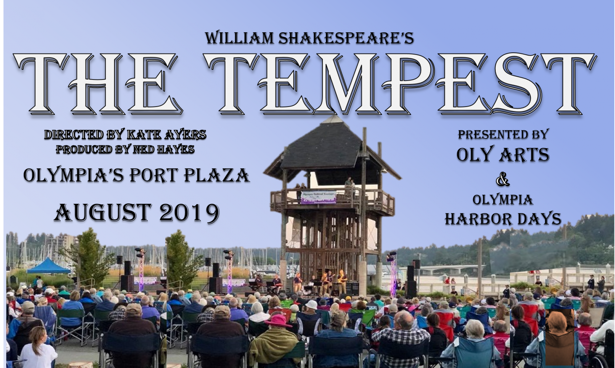AUDITIONS – THE TEMPEST – ON STAGE SUMMER 2019 – PERFORMED AT